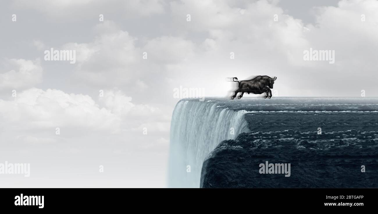 Bull et les marchés boursiers luttent et investissent la volatilité dans un style d'illustration 3D. Banque D'Images