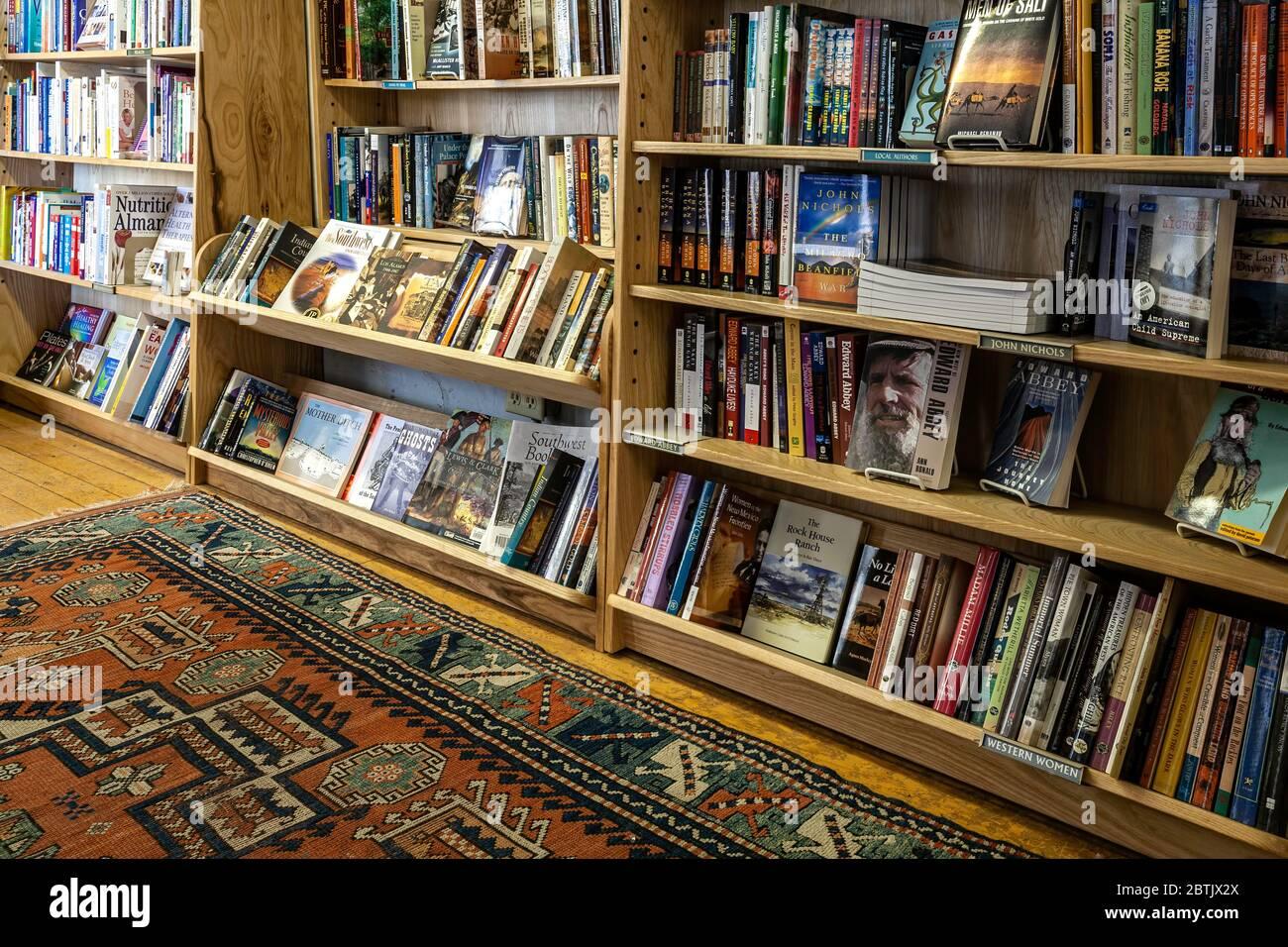 Librairies, Moby Dickens Bookstore, Taos, Nouveau-Mexique, Etats-Unis Banque D'Images
