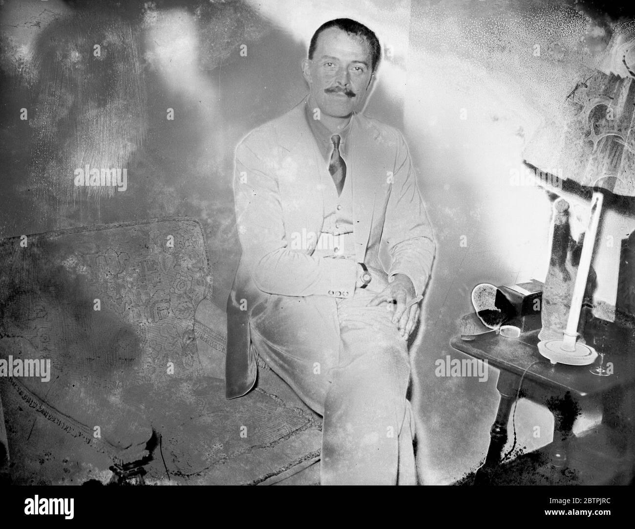 Harold Farquhar dans Londres . 29 octobre 1935 Banque D'Images