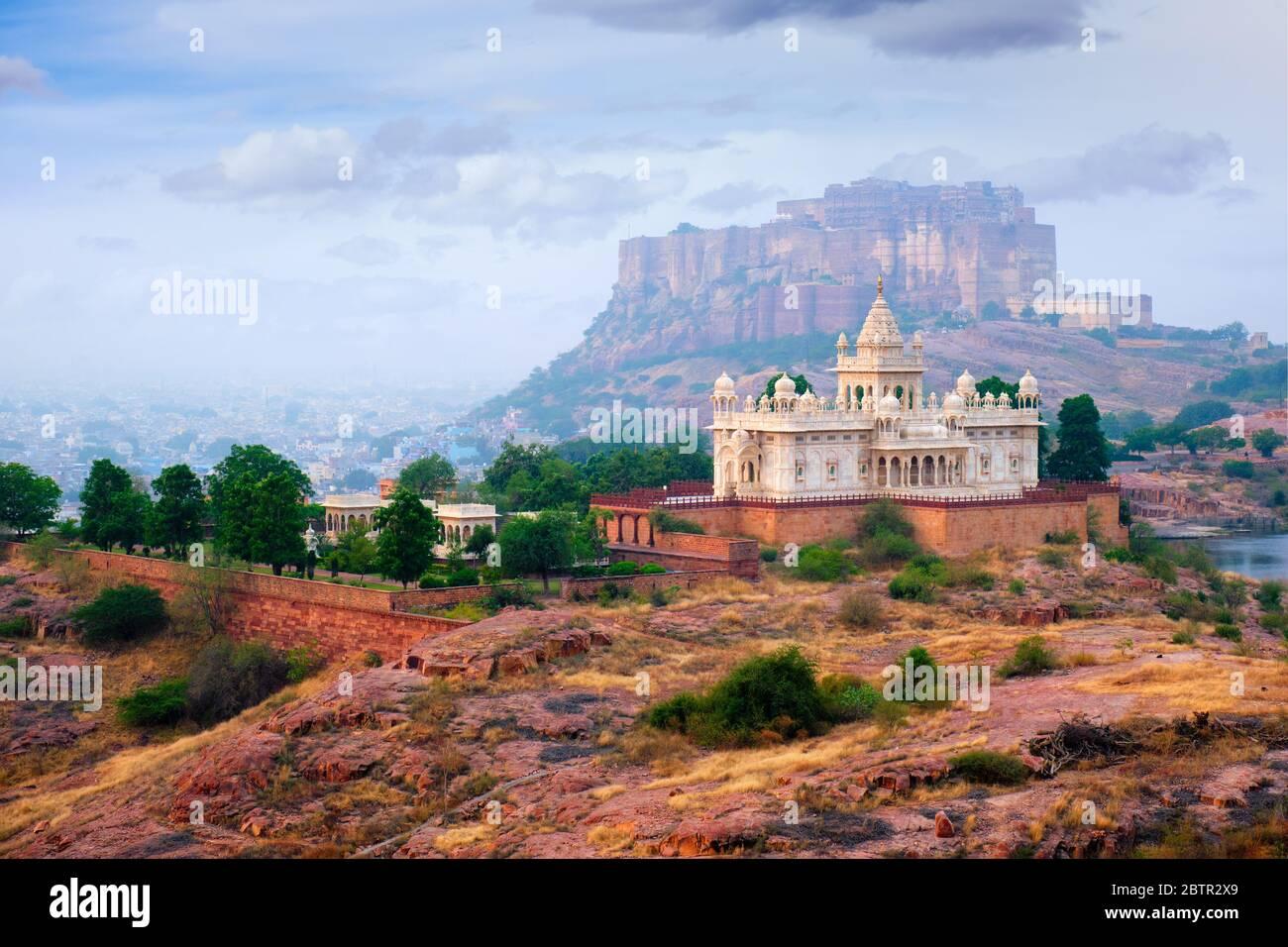 Jaswanth Thada mausolée, Jodhpur, Rajasthan, India Banque D'Images