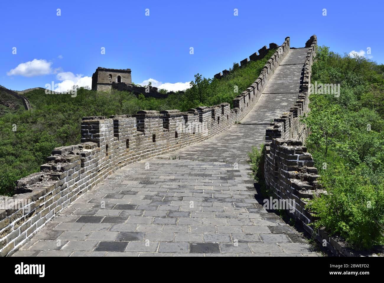 Un grand mur en Chine Pékin Banque D'Images