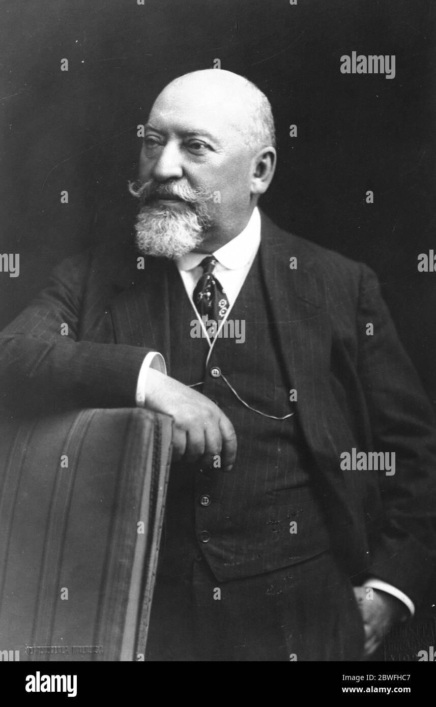 Gouvernement roumain Alexander Constantinesco , Ministre de l'agriculture . 1924 Banque D'Images