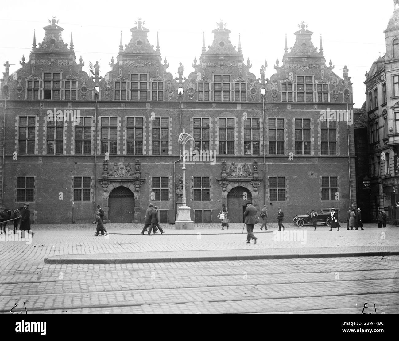 Dantzig , Pologne le Zeughaus . Parlement 24 octobre 1921 Banque D'Images