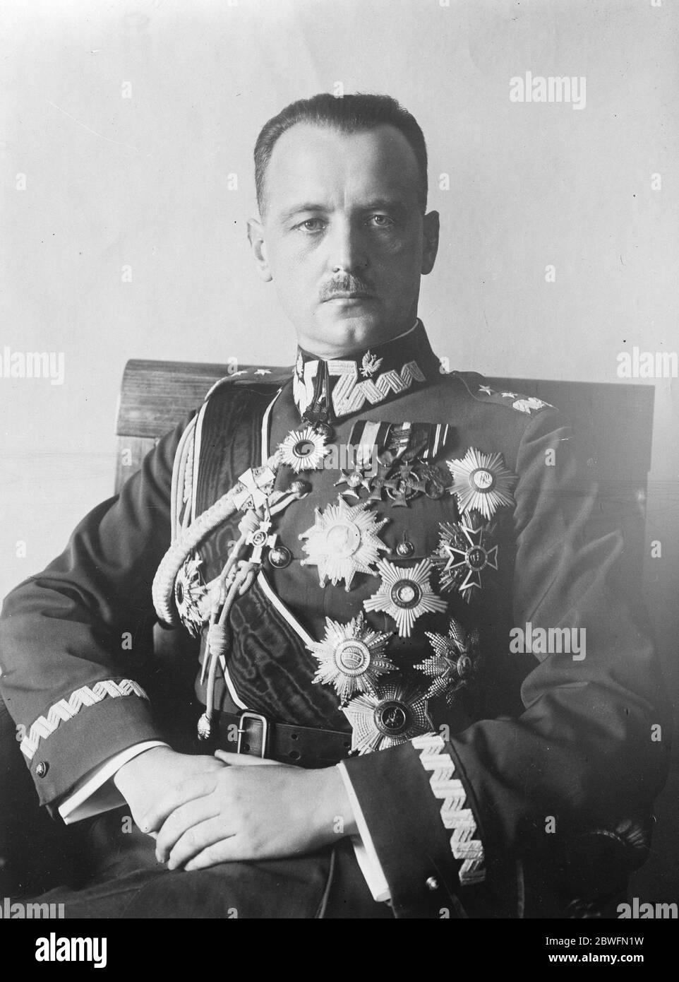 Général Wladyshaw Sikorski . 5 juin 1926 Banque D'Images