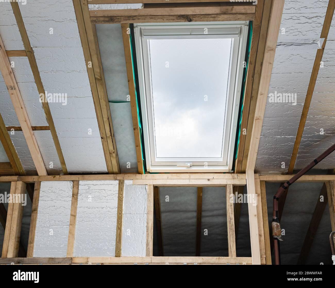Conversion de loft résidentiel non fini Banque D'Images