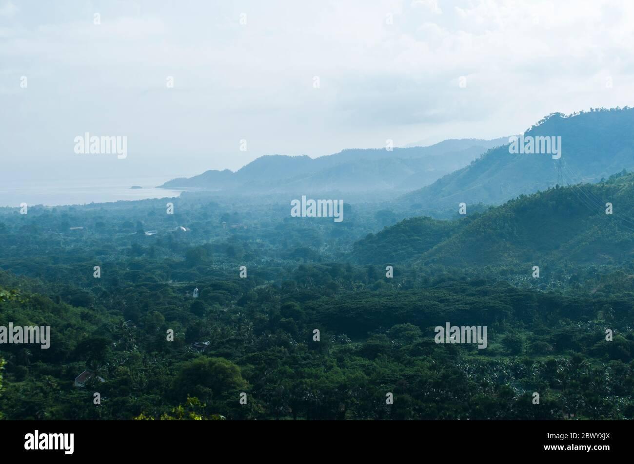 Magnifique paysage avec vue sur la nature de la forêt à Manatuto Timor Leste Banque D'Images
