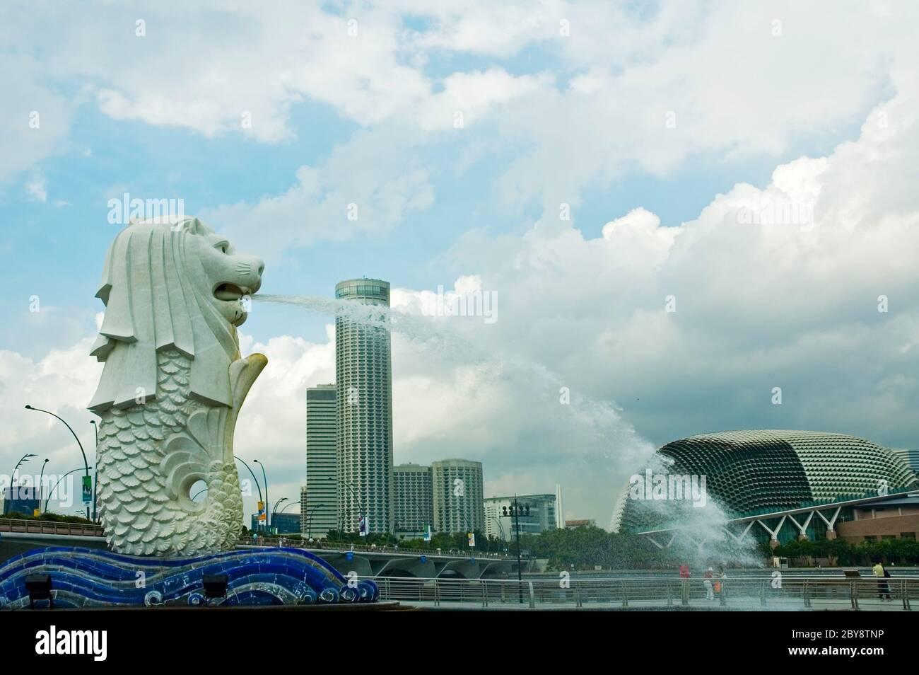 Statue de Merlion, Singapour Banque D'Images