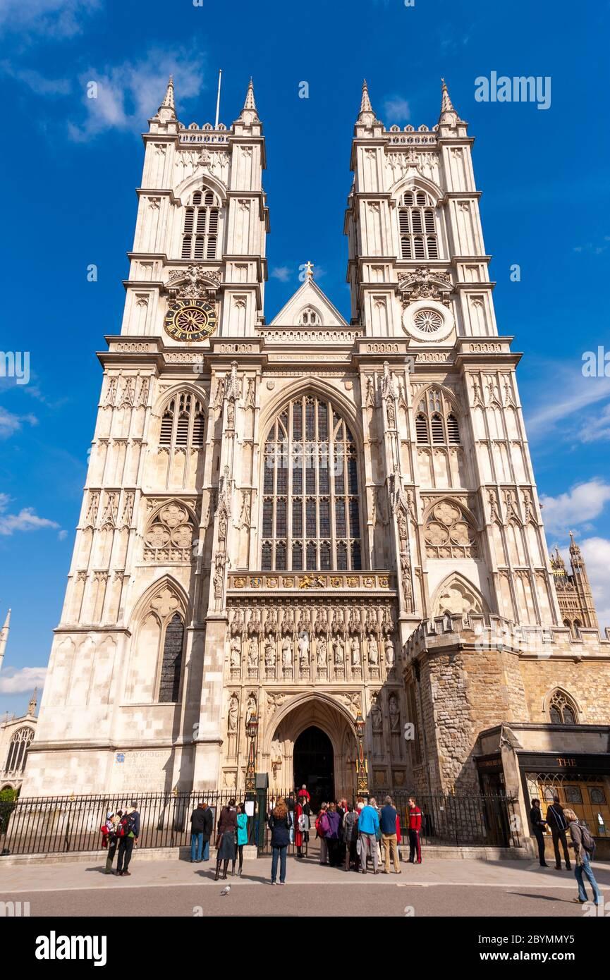 L'Abbaye de Westminster, London, England, UK Banque D'Images