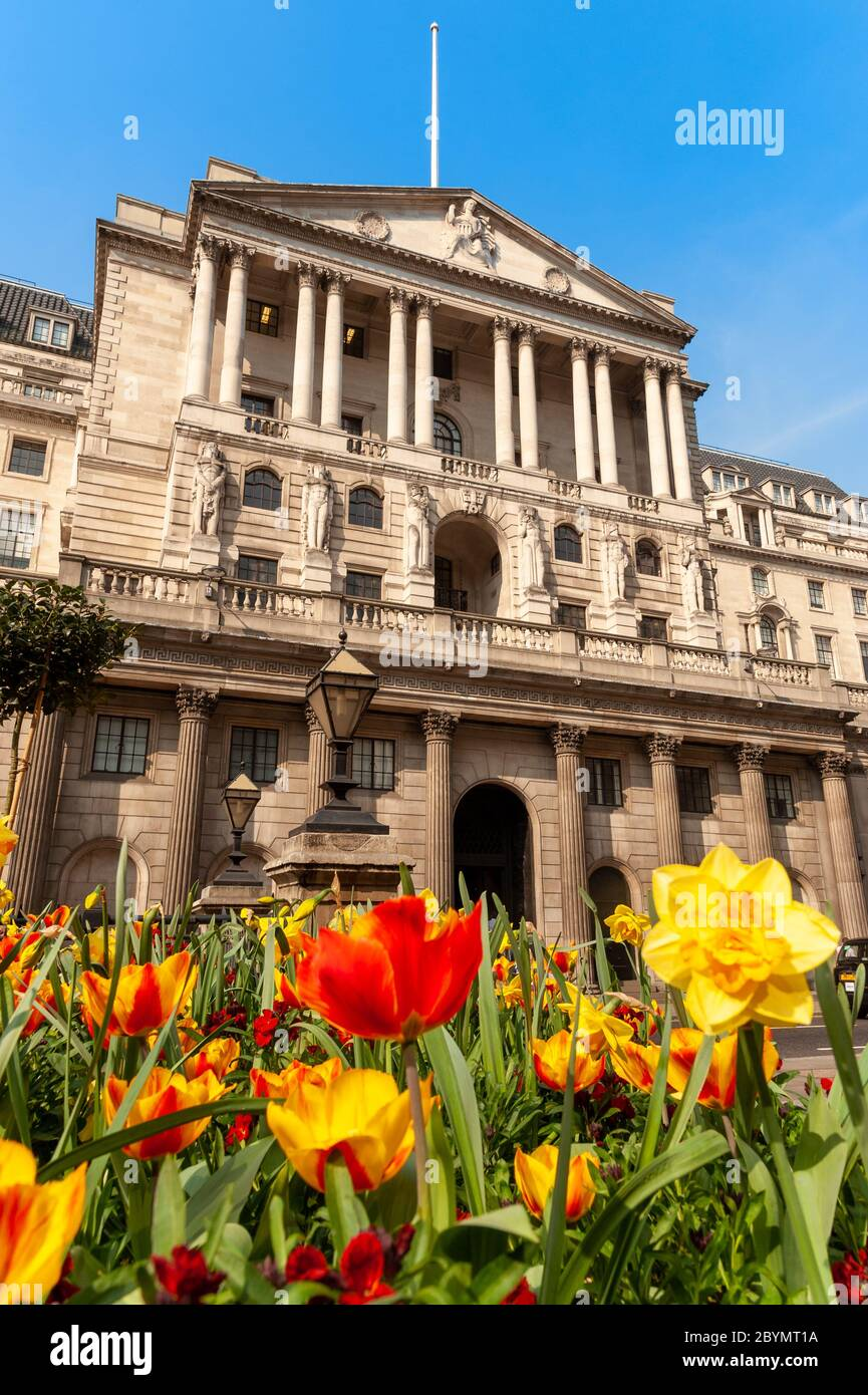 La Banque d'Angleterre, Londres, UK Banque D'Images