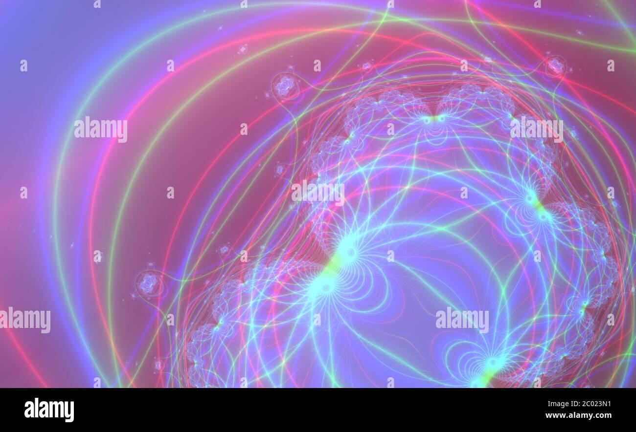Résumé couleur méditative fond fractal Banque D'Images