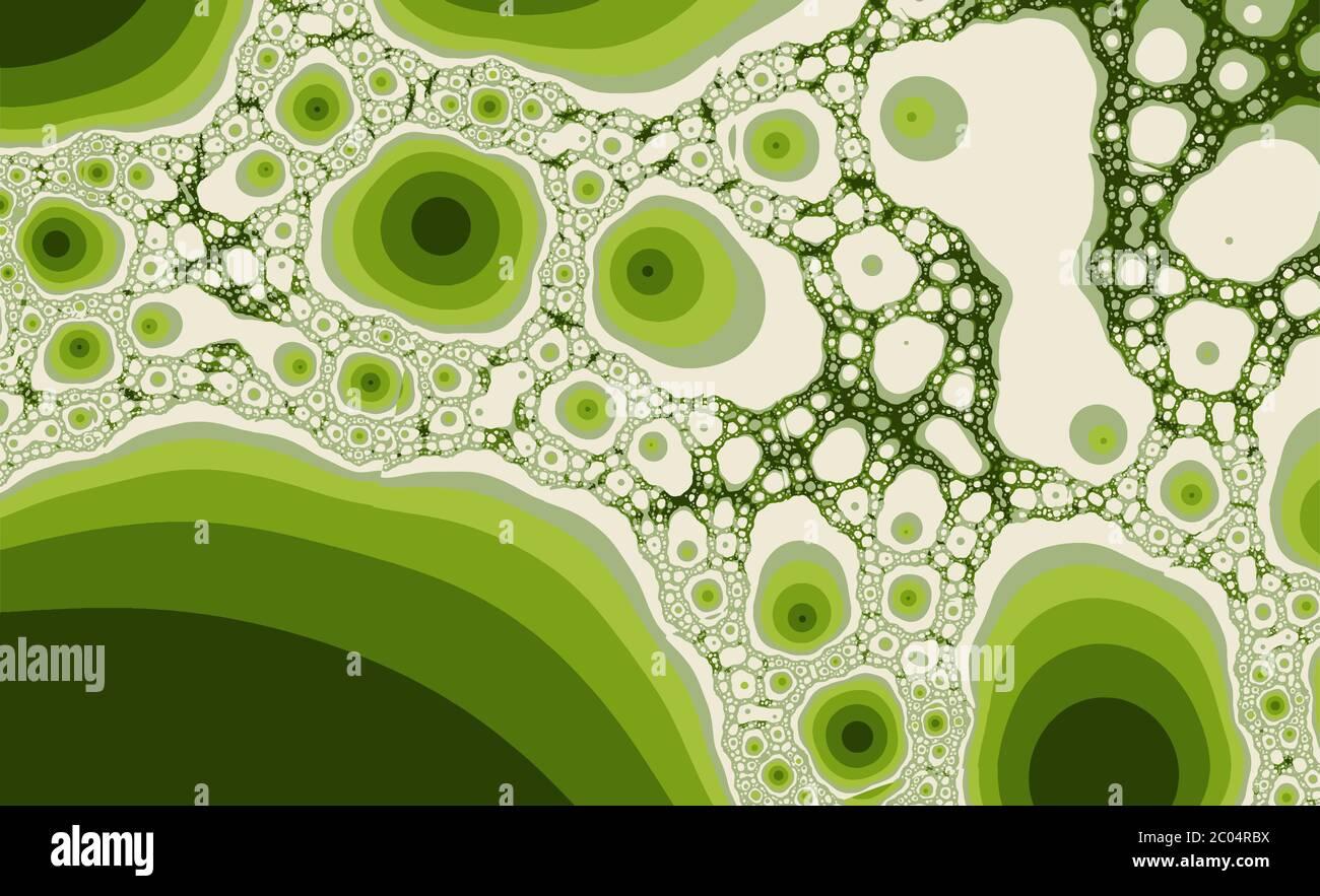 Résumé couleur méditative fond fractal Illustration de Vecteur