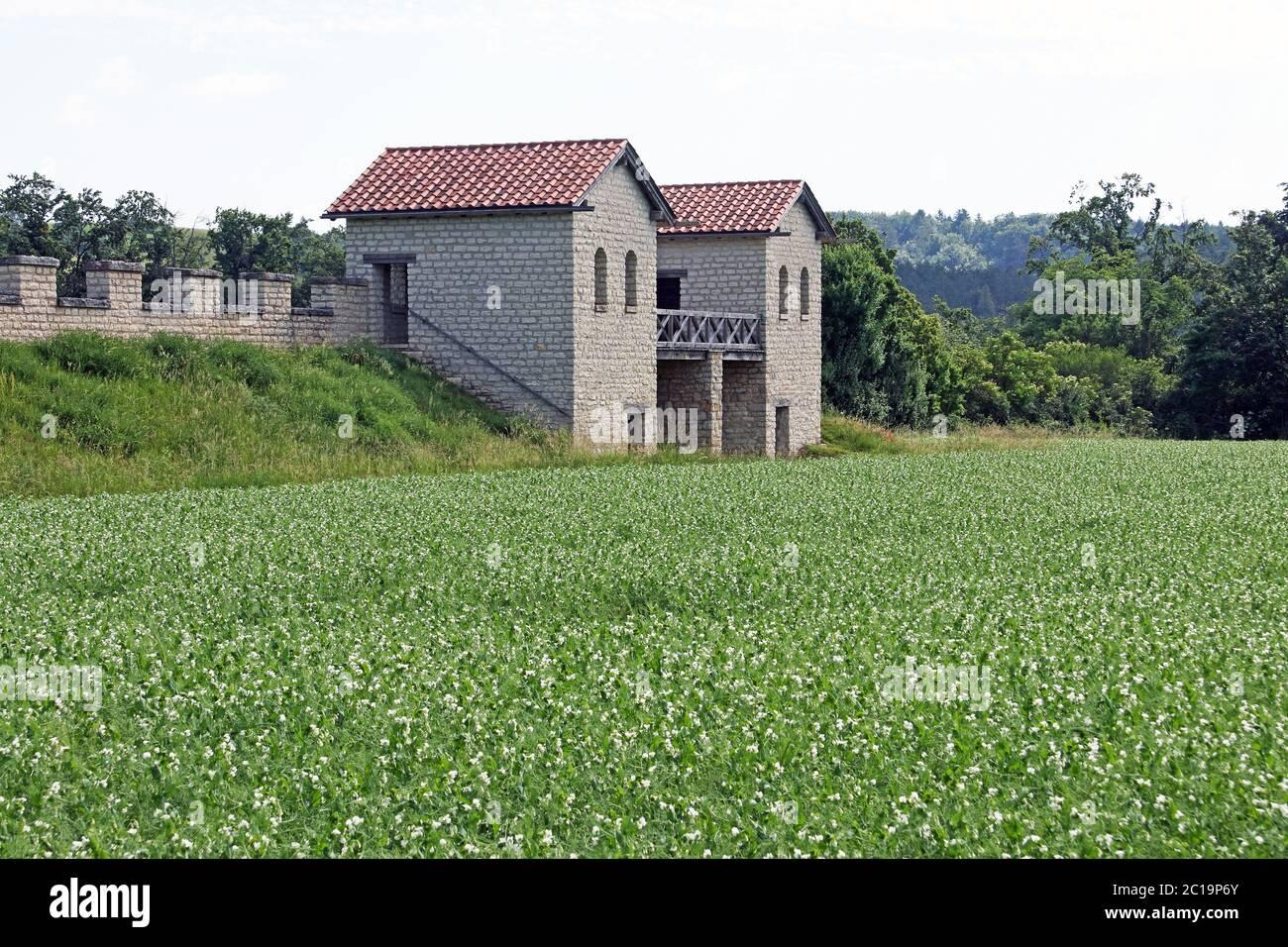 Fort romain Castell Castra Vetonianae Pfuenz de 117-138 après J.-C. Bavière Allemagne Banque D'Images