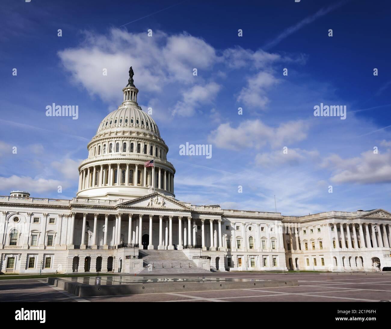 Façade du Congrès des États-Unis sur Capitol Hill, Washington DC Banque D'Images