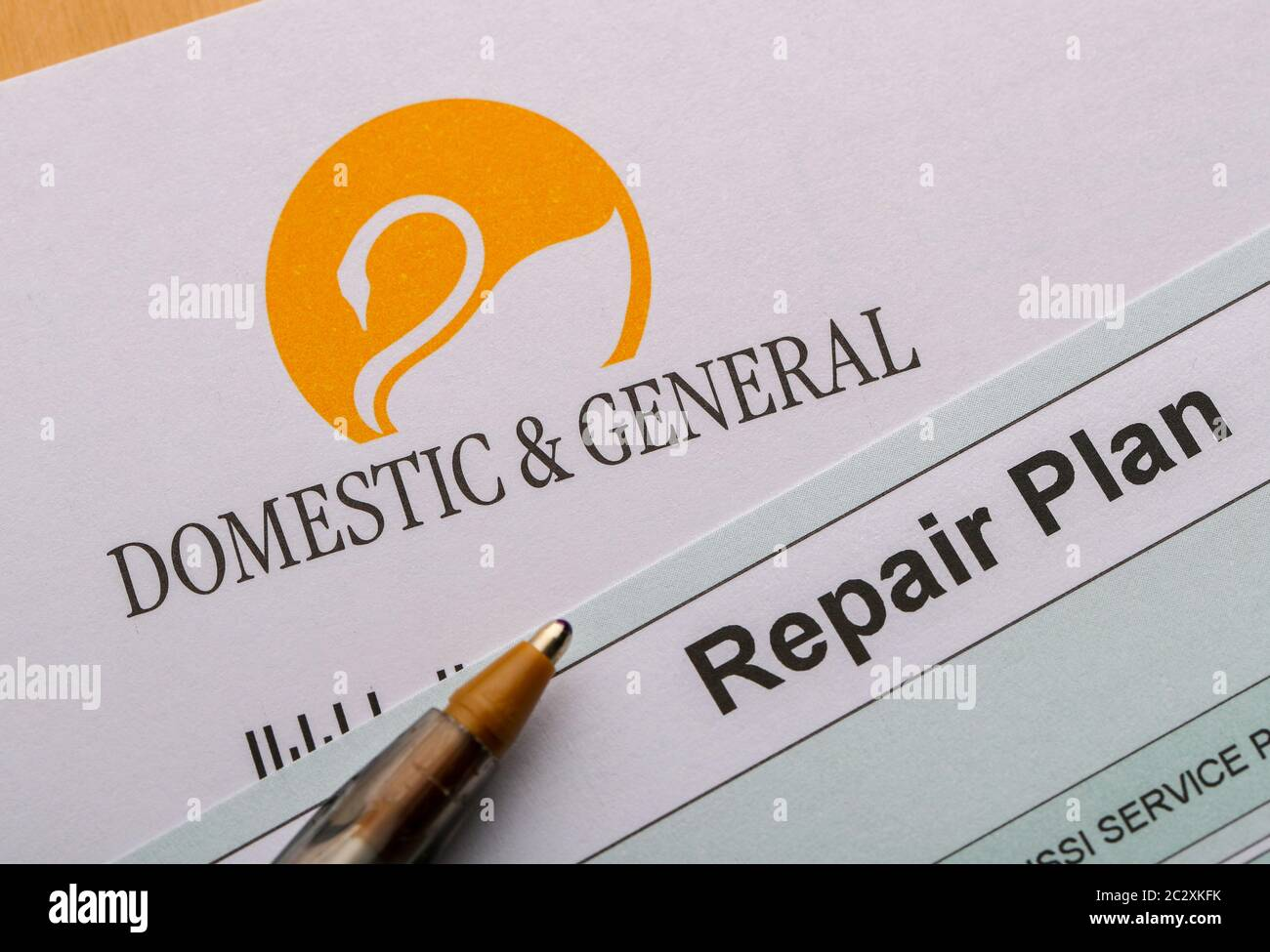 Plan de réparation d'assurance de protection des appareils domestiques et généraux, pour couvrir les articles de cuisine en cas de panne Banque D'Images