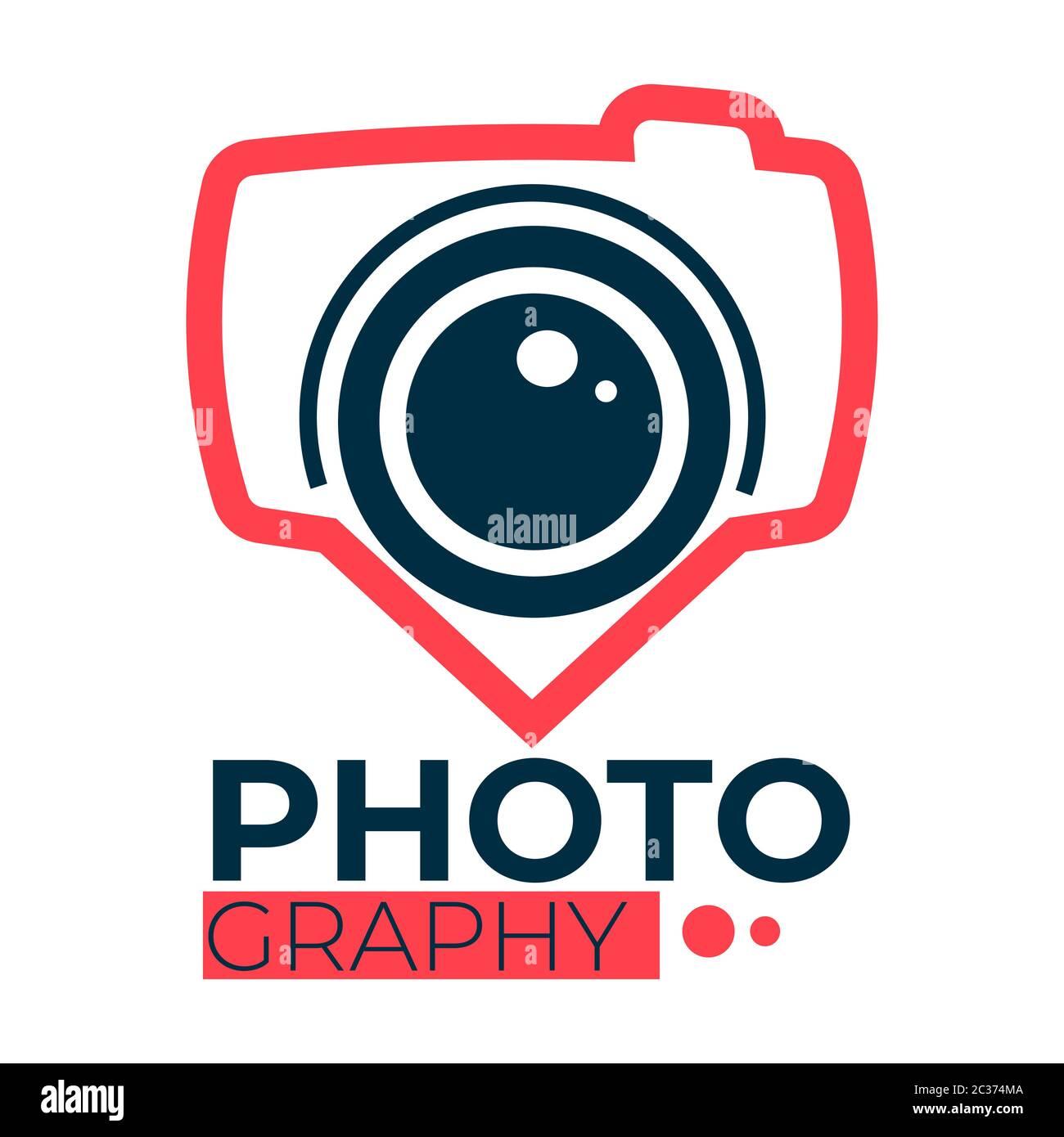 Services de studio de photographie pour prendre des photos, soins professionnels Illustration de Vecteur