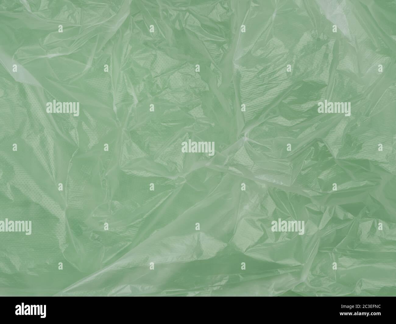 La texture du film de cellophane froissé. Résumé de l'image. Vue du dessus. Toile à huile frotte. Banque D'Images