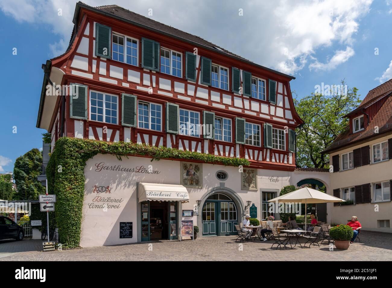 Hagnau, BW / Allemagne - 23 juin 2020 : vue sur l'historique 'Hotel Loewen' ou l'hôtel Lions de Hagnau sur le lac de Constance dans le sud de l'Allemagne Banque D'Images