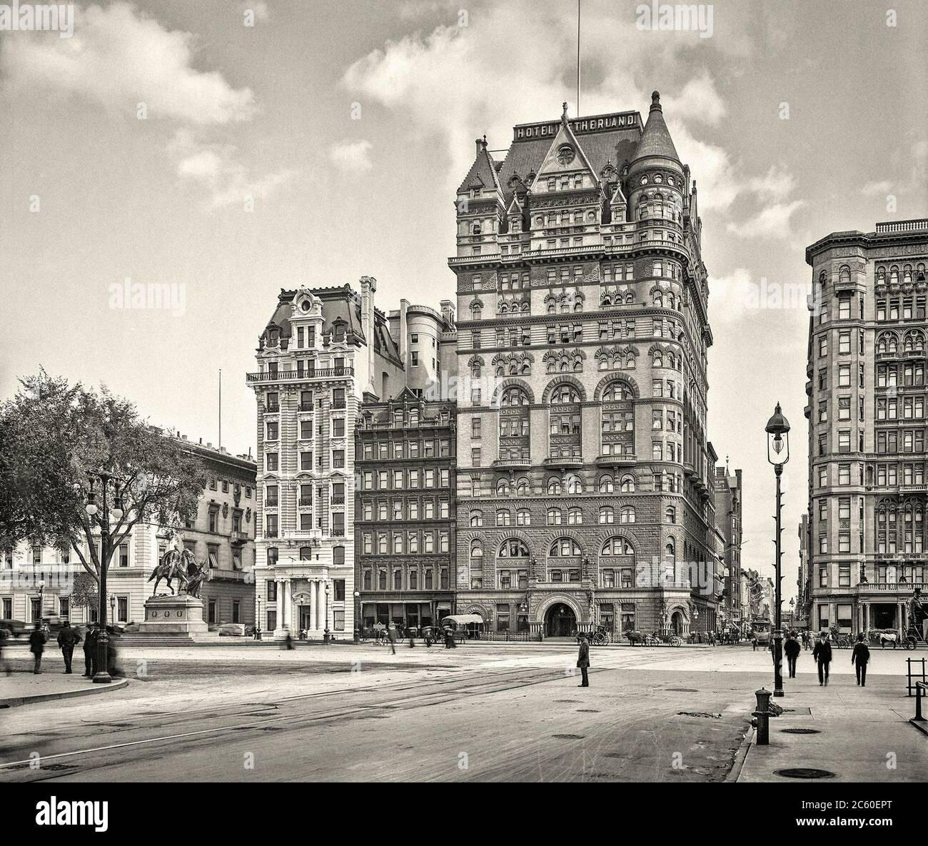 New York, 'Hotel Netherland, Fifth Avenue et 59th Street. 1905 Banque D'Images