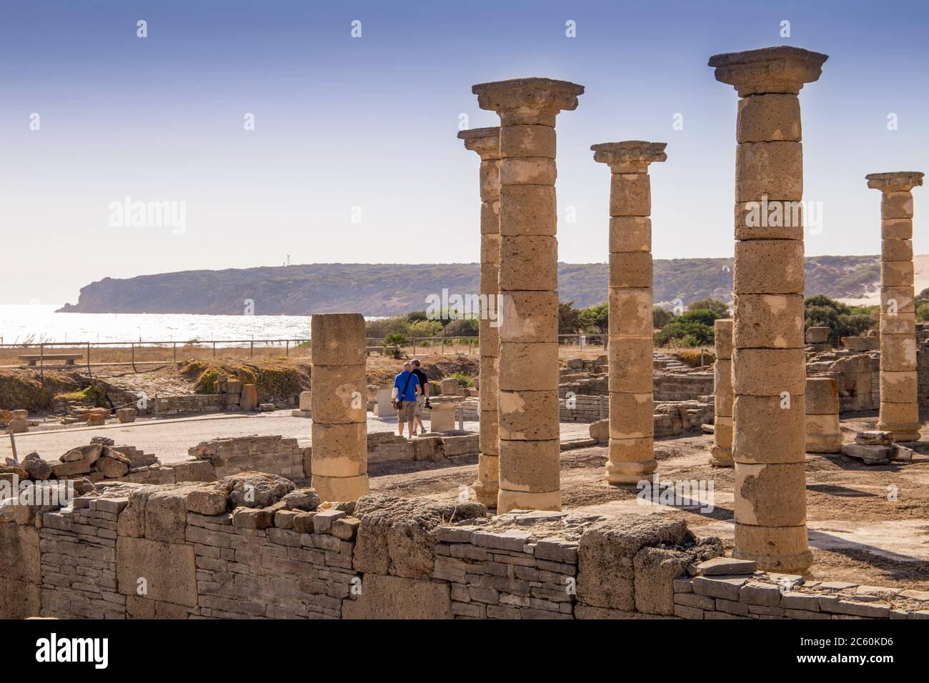 Musée et ruines d'une ville romaine, Baelo Claudia, Cadix, Espagne, le 10 octobre 2017. Banque D'Images