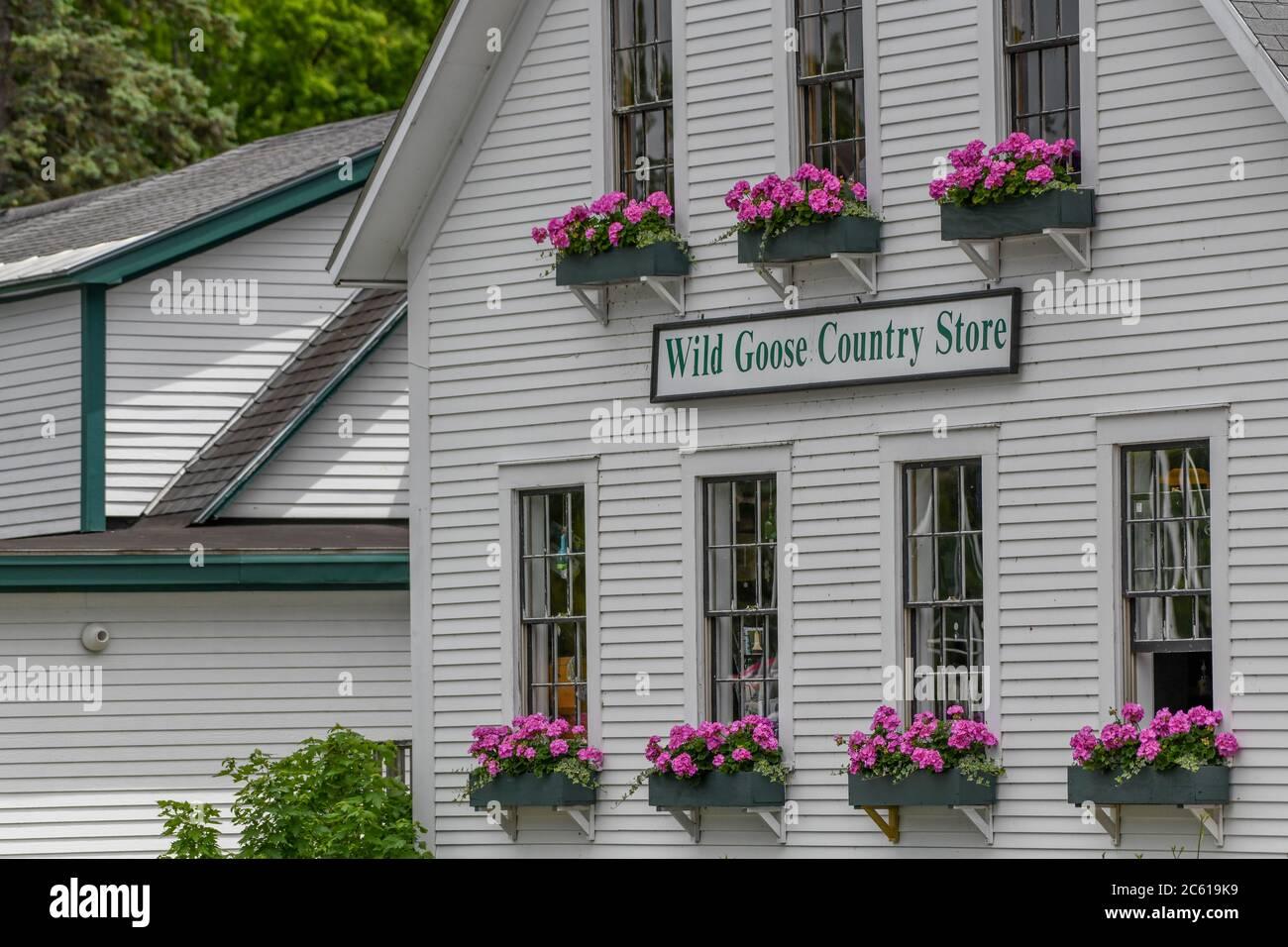 Wild Goose Country Store - Sunapee NH - New Hampshire Lake Sunapee - lac glaciaire alimenté par une source - Banque D'Images