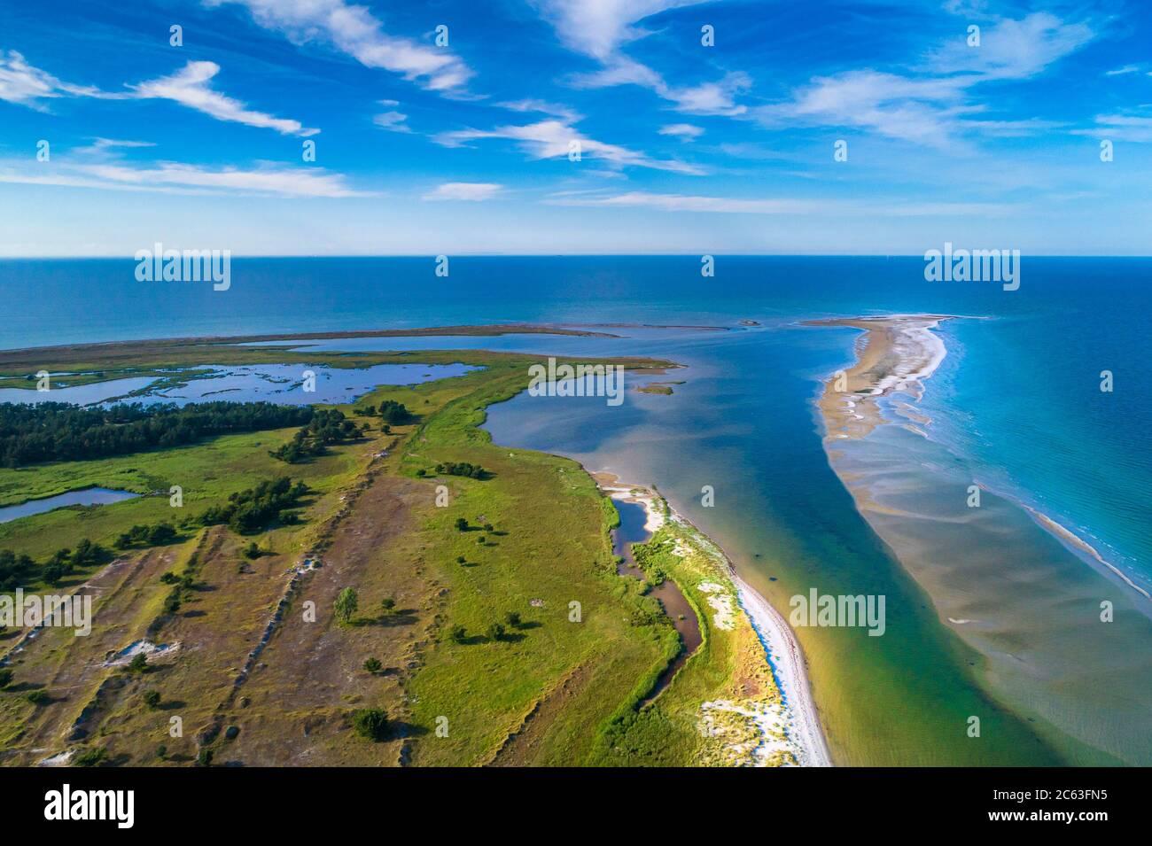 Mer Baltique, Allemagne, Mecklembourg-Poméranie occidentale, Darß, Prerow, vue sur le bord de mer d'eyriel Banque D'Images