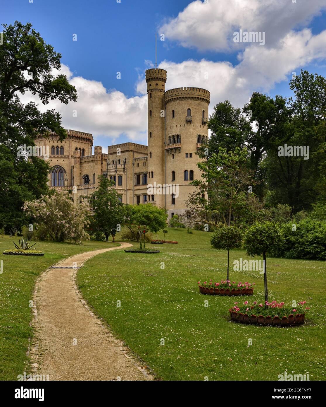 Château de Babelsberg, classé au patrimoine mondial de l'UNESCO, dans le Brandebourg et Berlin Banque D'Images