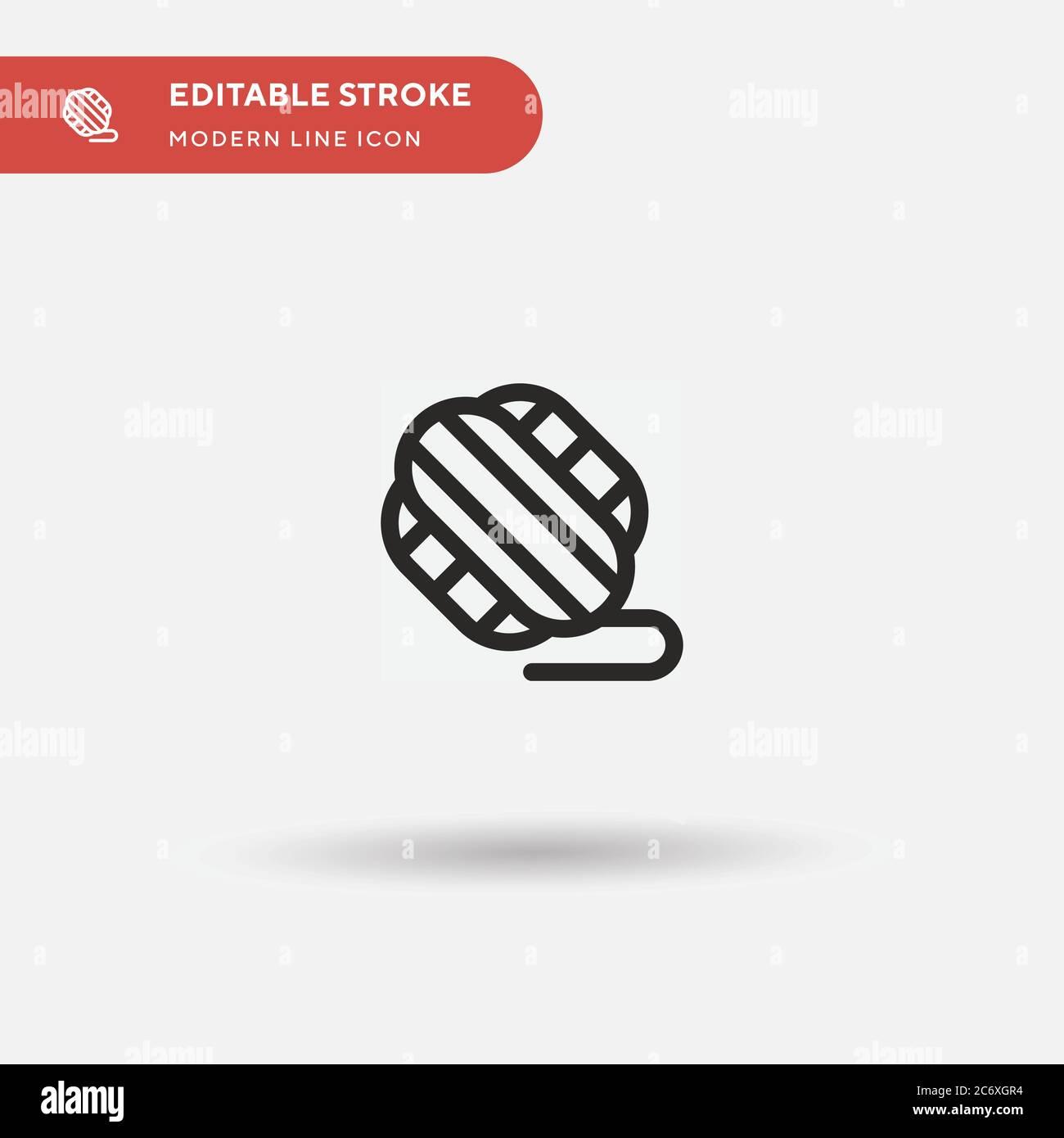 Icône de vecteur simple ball of Wool. Modèle de conception de symbole d'illustration pour l'élément d'interface utilisateur Web mobile. Pictogramme moderne de couleur parfaite sur contour modifiable. Icônes de ball of Wool pour votre projet d'entreprise Illustration de Vecteur