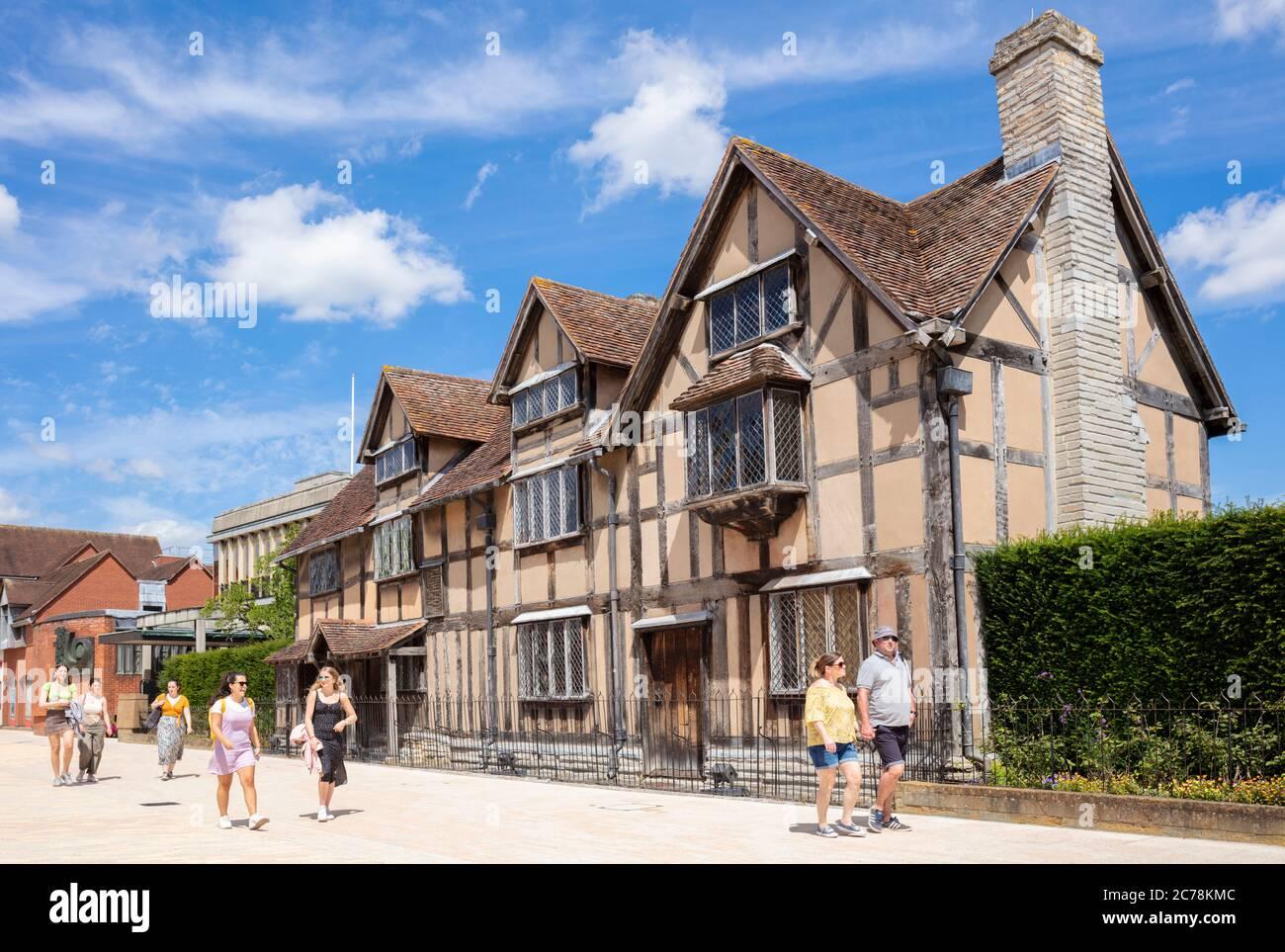 William Shakespeare lieu de naissance de Stratford-upon-Avon William Shakespeare lieu de naissance de Stratford upon Avon Warwickshire Angleterre GB Europe Banque D'Images