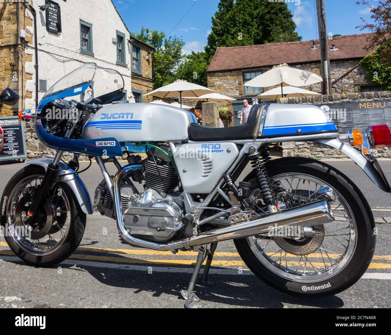 Ducati Desmo 900cc Super Sport moto classique italienne Banque D'Images