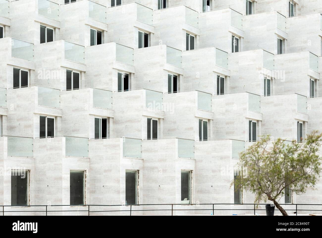 Vue extérieure de l'hôtel Don Pedro BLEU TUI à Cala Sant Vicenç, Majorque Banque D'Images