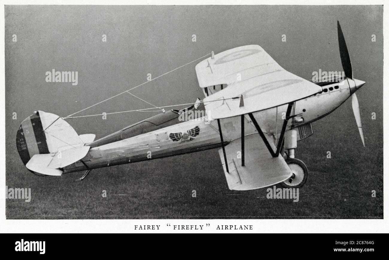 Avion Fairey Firefly en vol. Date: Vers les années 1930 Banque D'Images