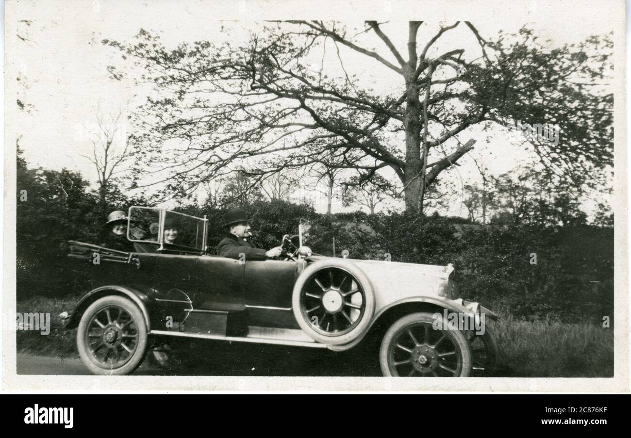 Sizaire Vintage car, Berwick-upon-Tweed, Northumberland, Angleterre. 1914 Banque D'Images