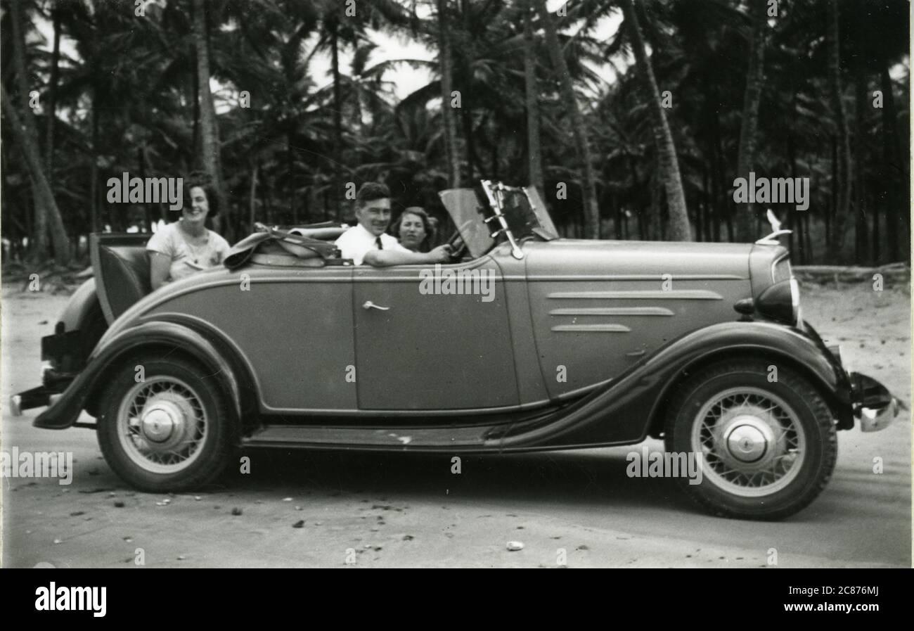 Chevrolet Vintage car, Trinidad, Caraïbes 1936 Banque D'Images