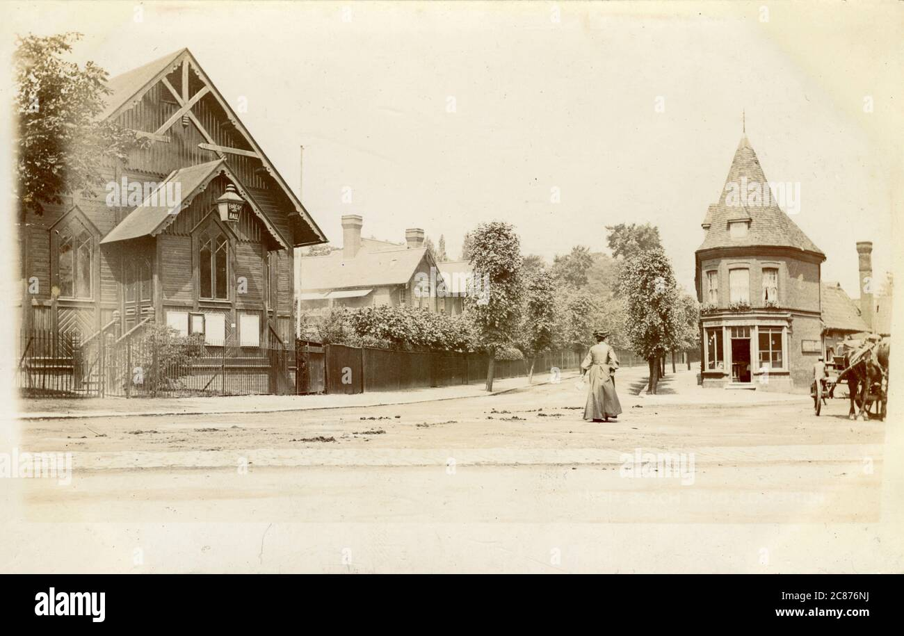 Village, Forest Hall, Newcastle upon Tyne, Northumberland, Angleterre. 1900 Banque D'Images