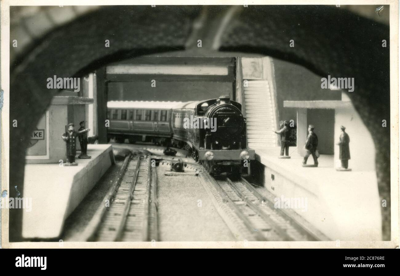 Model Hornby Railway, North Road, Redhill, Reigate, Surrey, Angleterre. années 1930 Banque D'Images