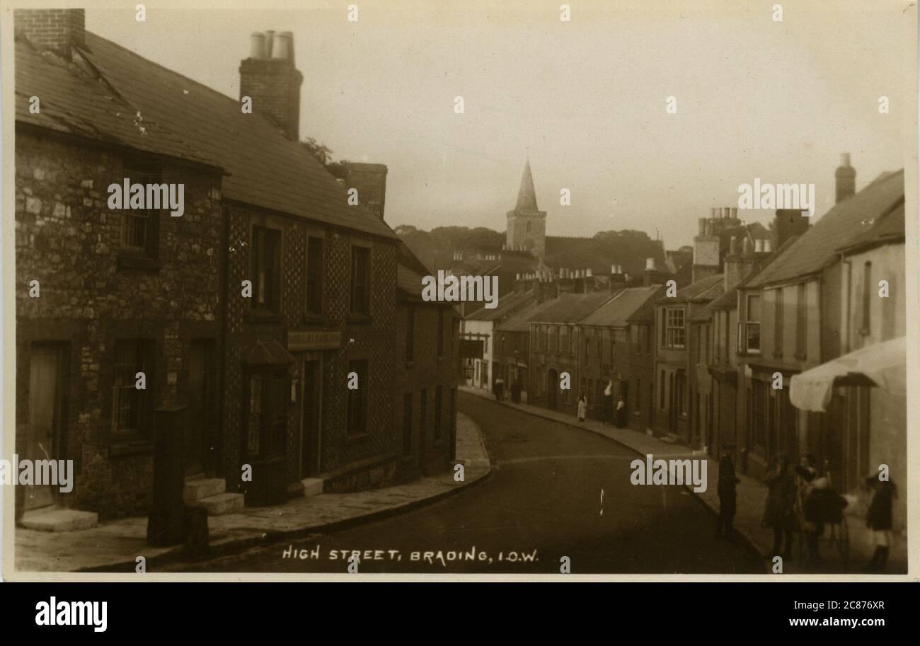High Street, Brading, Isle of Wight, Grande-Bretagne des années 1920 Banque D'Images