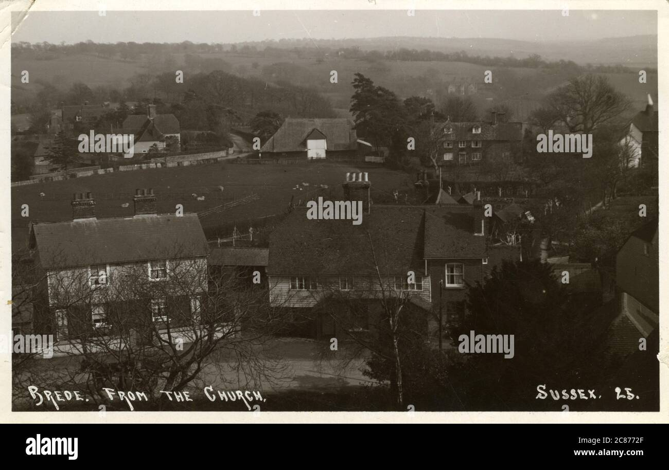 The Village, Brede, Hastings, Rother, Sussex, Angleterre. 1914 Banque D'Images