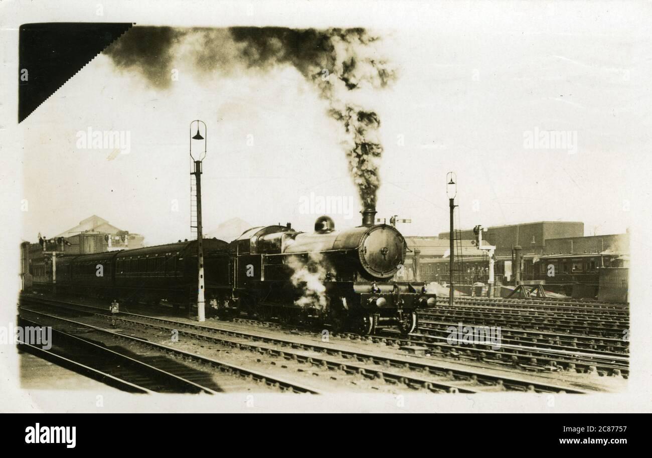Gare ferroviaire , pensé pour être à Crewe, Cheshire, Angleterre. Banque D'Images