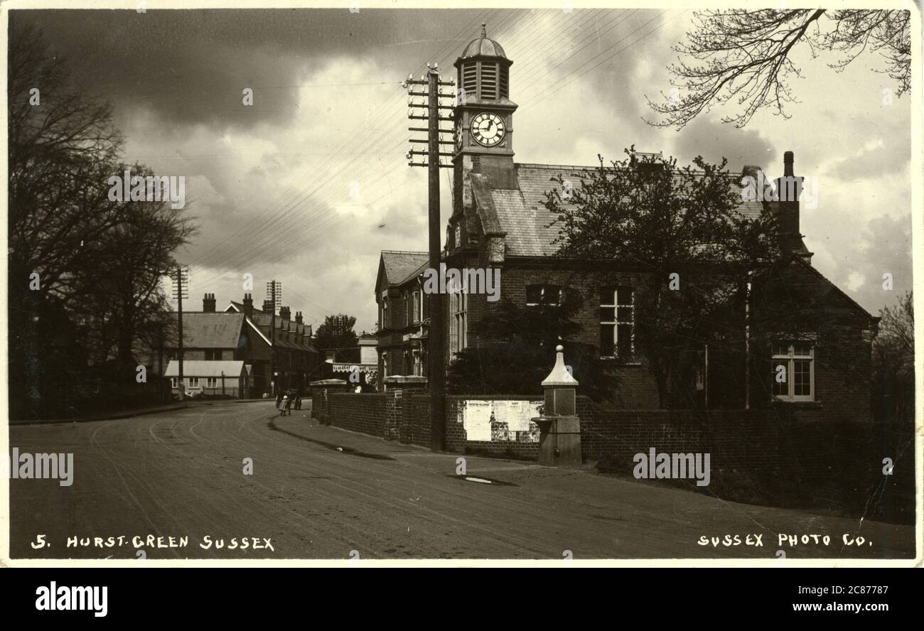 The Village, Hurst Green, Etchingham, Battle, Sussex, Angleterre. Banque D'Images