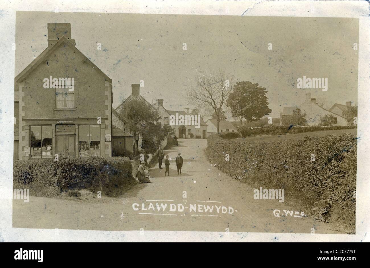 The Village, Clawdd-Newydd, Ruthin, Derwen, Denbigshire, pays de Galles. Banque D'Images