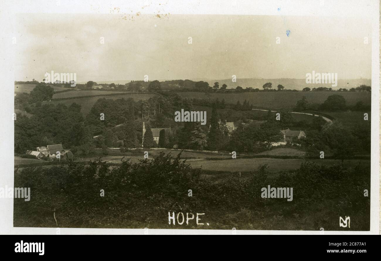 The Village, Hope, Hathersage, Derbyshire, Angleterre. Banque D'Images