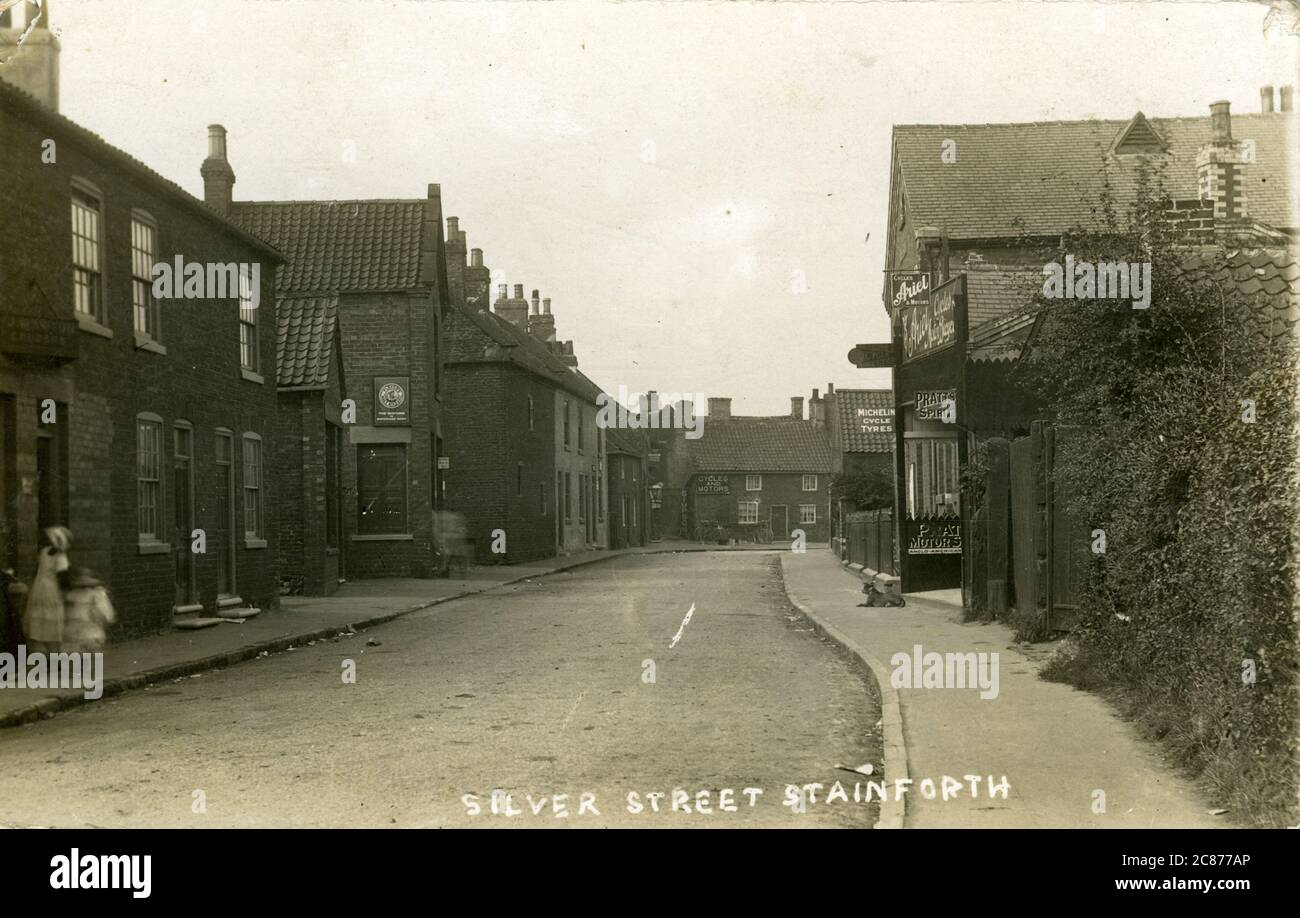 Silver Street, Stainforth, Doncaster, Yorkshire, Angleterre. Banque D'Images