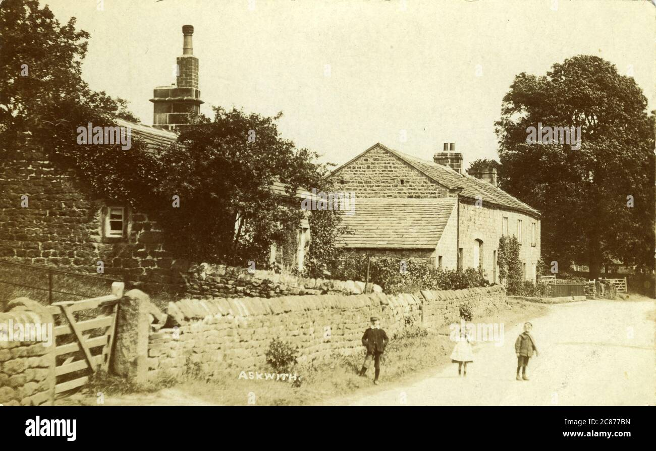 West Lane, Askwith, Otley, Leeds, Yorkshire, Angleterre. Banque D'Images