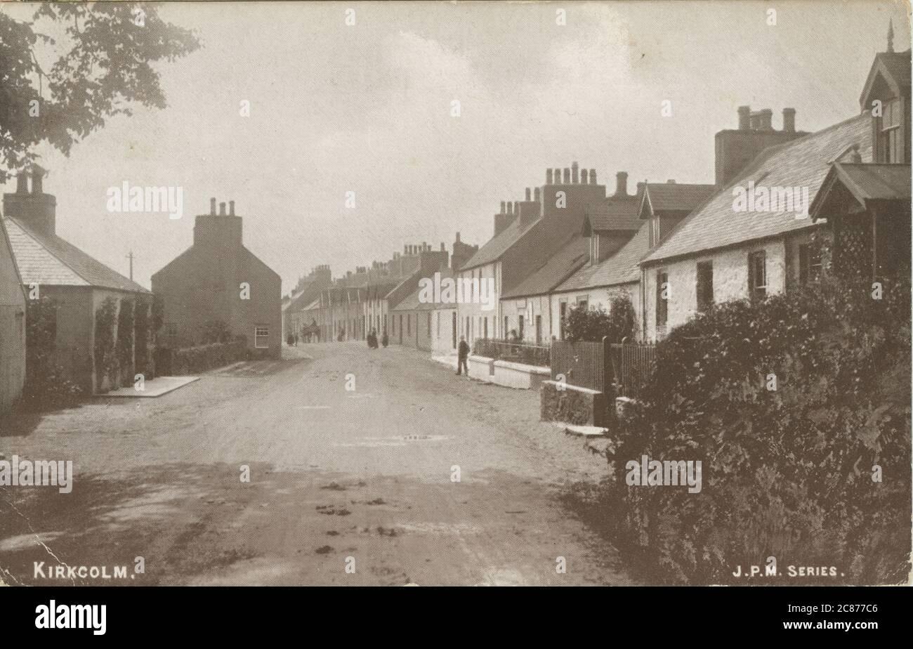 Main St, Kirkcolm, Stranraer, Rhinns of Galloway Peninsula, Dumfries & Galloway, Écosse. Banque D'Images