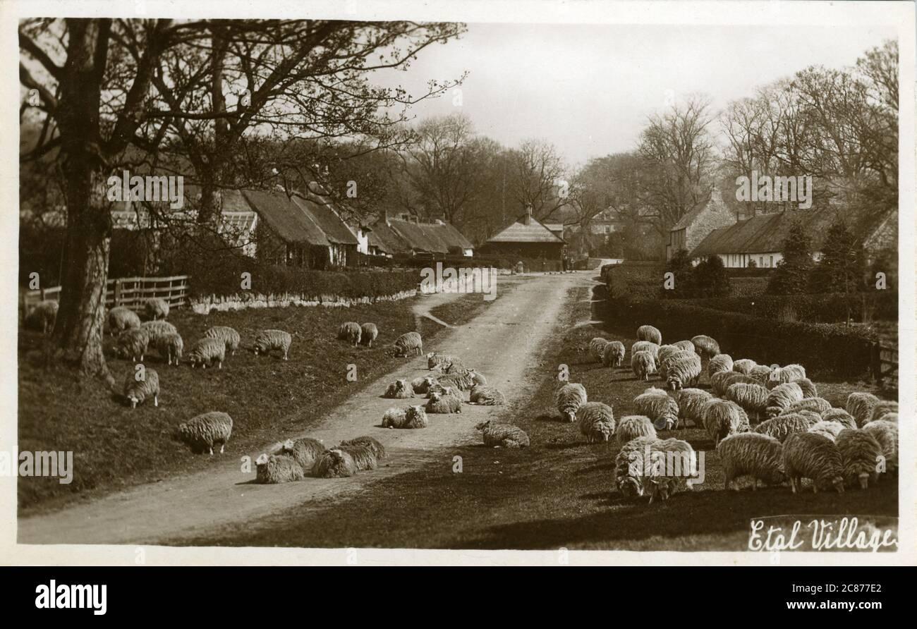 The Village, Etal, Cornhill-on-Tweed, Berwick on Tweed, Coldstream, Northumberland, Angleterre. Banque D'Images