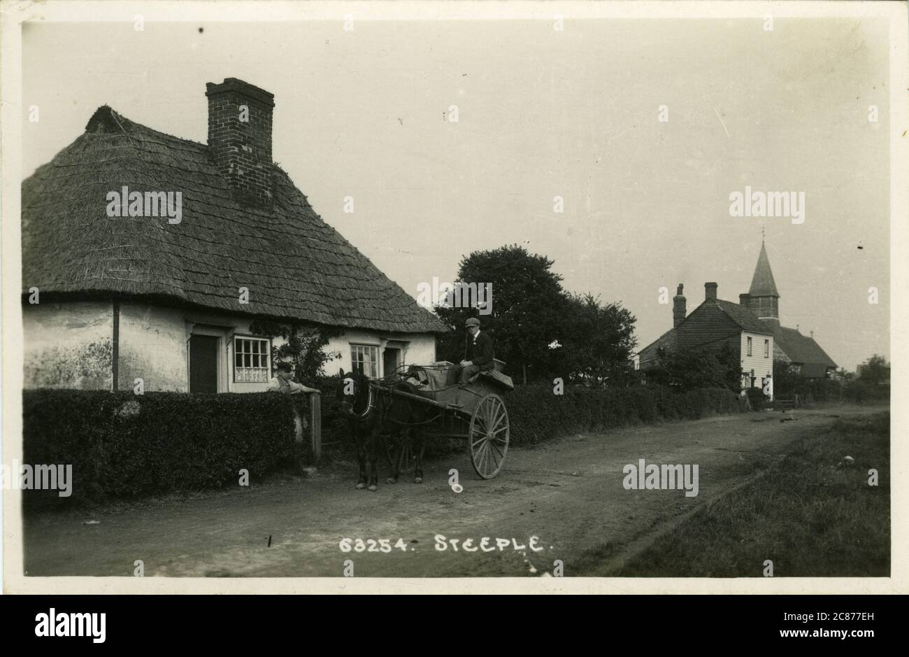 The Street, Steeple, Southminster, Mayland, Maldon, Essex, Angleterre. Banque D'Images