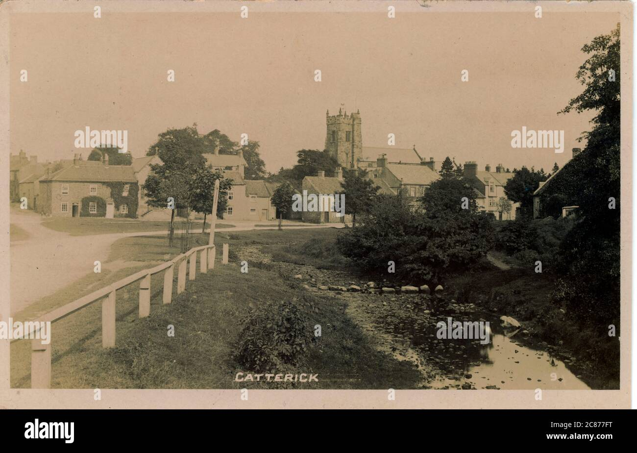 Low Green, Catterick, Richmond, Yorkshire, Angleterre. Banque D'Images