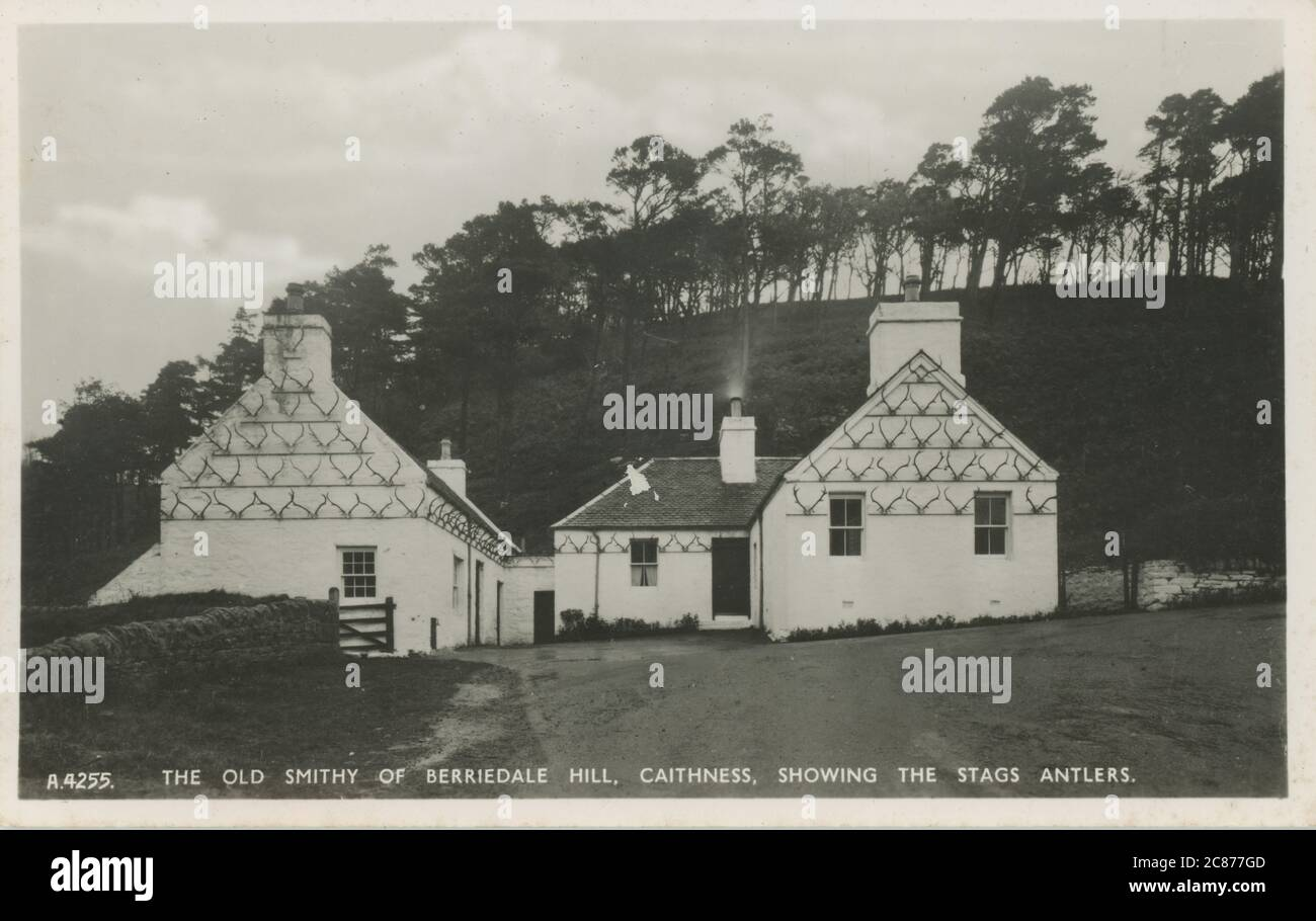 The Old Smithy, Berriedale Hill, Berriedale, Dunbeath, Caithness, Écosse. Banque D'Images