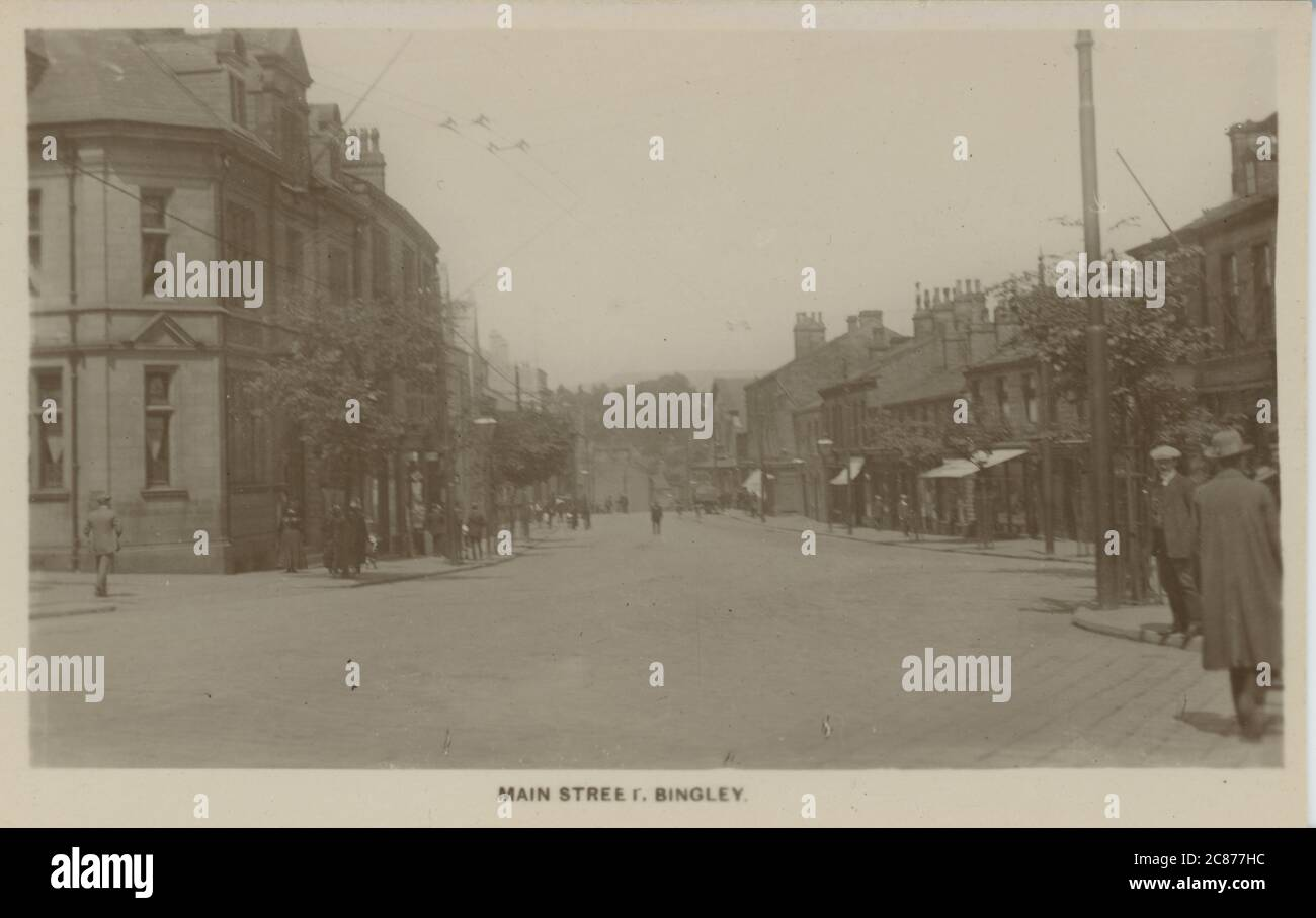Main Street, Bingley, Shipley, Yorkshire, Angleterre. Banque D'Images