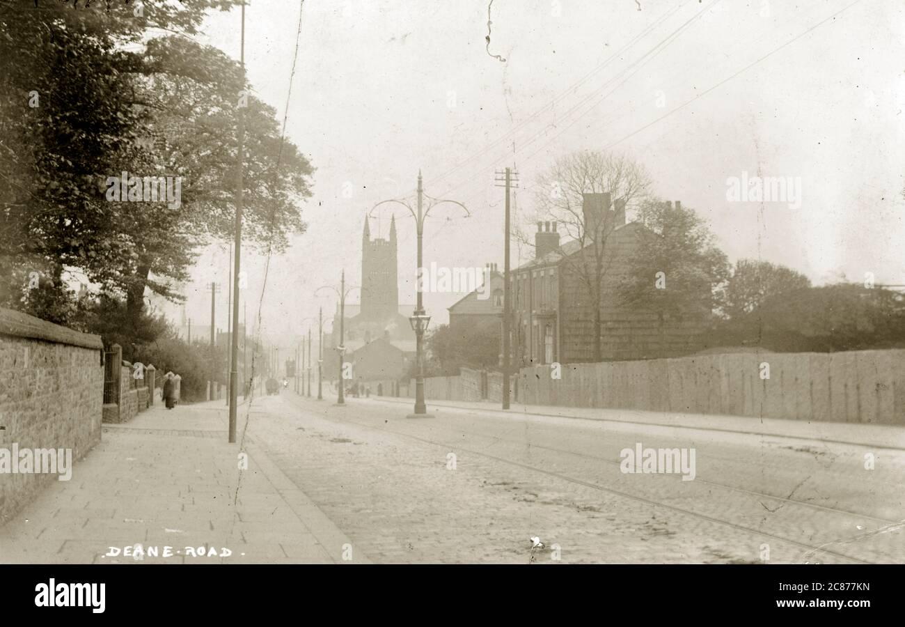 Deane Road, Bolton, Lancashire, Angleterre. Banque D'Images